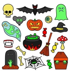 Halloween Patches Set vector image vector image