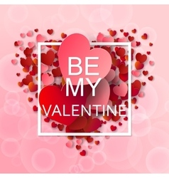 Happy valentines day and weeding background vector