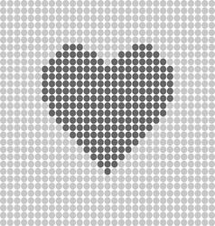Heart icon grey vector