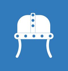 Icon ancient helmet vector