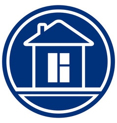icon with house and window interior symbol vector image vector image