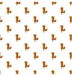 Letter l from caramel pattern vector