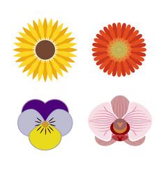 Logo set of graphic flower elements vector