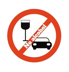 No alcohol vector image vector image