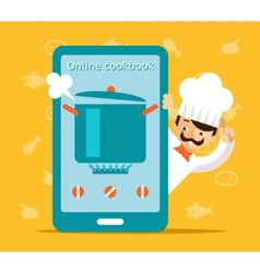 Online cookbook search for recipes in web vector