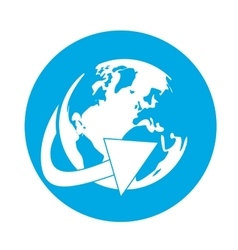 Planet earth international or global icon image vector