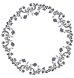 Retro circular background vector