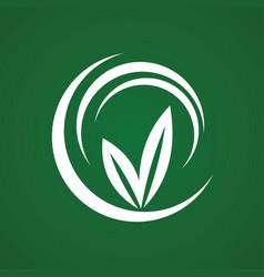 round green logo vector image vector image