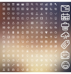 set of icons for web and user interface design vector image