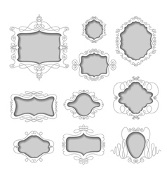 set of stylish frames vector image