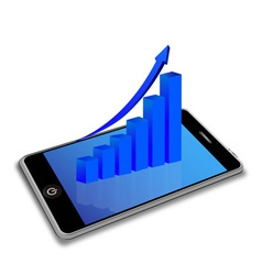 Smart phone and business graph vector