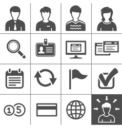 Telecommuting icons set - Simplus series vector image