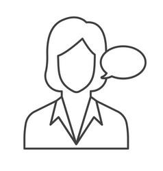 Thin line secretary icon vector