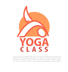 yoga concept design template with copy space for vector image vector image