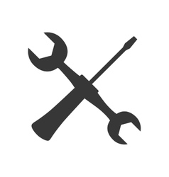 Wrench screwdriver tool icon graphic vector