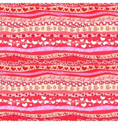 Red Love Valentins Day Waves Seamless Background vector image