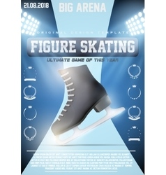 Poster template of ice figure skating vector