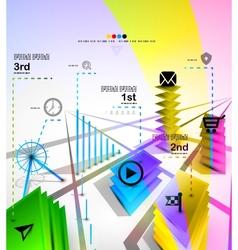 City modern infographics banner design template vector image
