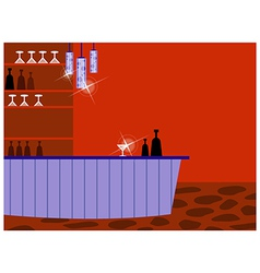 Retro cocktail bar vector