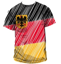 German tee vector image