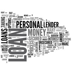 What you need to know about uk personal loans vector