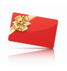 Red gift card vector