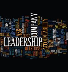 Ask don t tell leadership how do i create vector