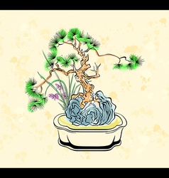 Bonsai art vector