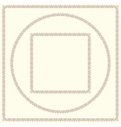 Set of vintage decorative frames vector