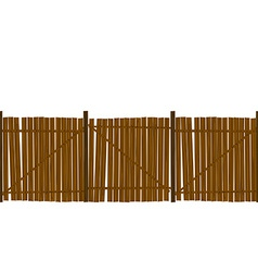 Wooden fence pattern vector