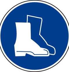 Safety boots must be worn sign vector