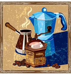 Classic coffee old poster vector