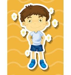 Little boy in clean clothes vector image