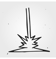 Hand drawn laser beam vector