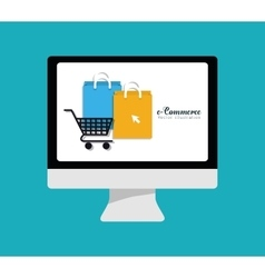 Shopping and ecommerce graphic design vector