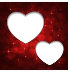valentine bokeh frame vector image