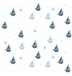 Pattern with ships vector