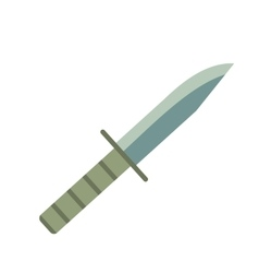 Military knife flat icon vector