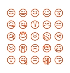 Set of emoji emoticons vector