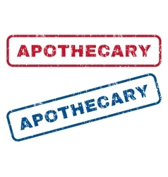 Apothecary rubber stamps vector