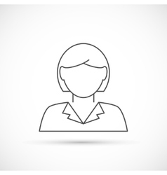 Businesswoman avatar thin line icon vector image