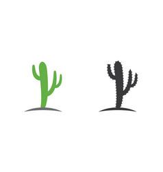 Cactus icon logo template vector