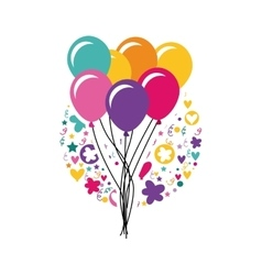 colorful balloons icon vector image