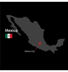 Detailed map of Mexico and capital city Mexico vector image vector image