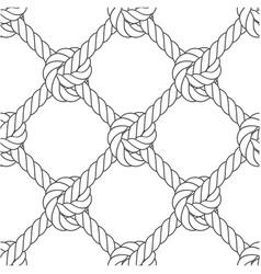 Diagonal rope mesh - knots and rope seamless vector