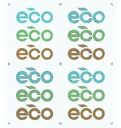 Eco round shape set vector image