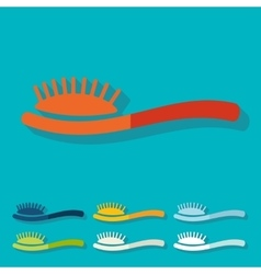 Flat design hair brush vector