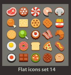 Flat icon-set 14 vector