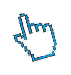 hand pointer computer vector image