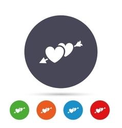 Hearts with arrow sign icon love symbol vector
